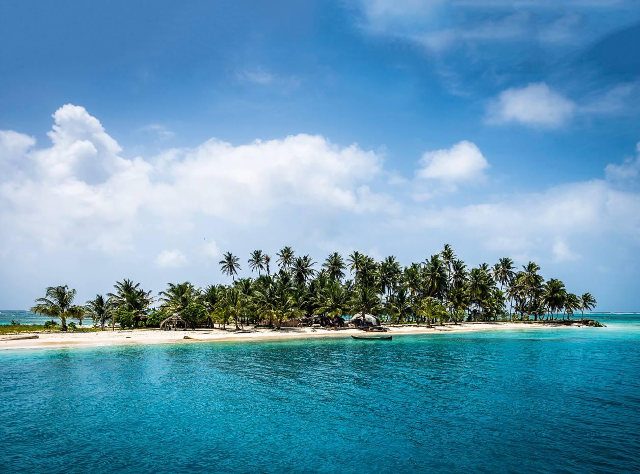 One of the 370 islands in the San Blas archipelago, Panama