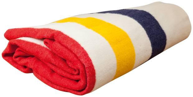 Hulme's vintage Hudson's Bay blanket, found in an LAjunk shop