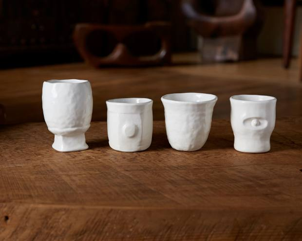 Permanent Collection porcelain cups, $350 for four