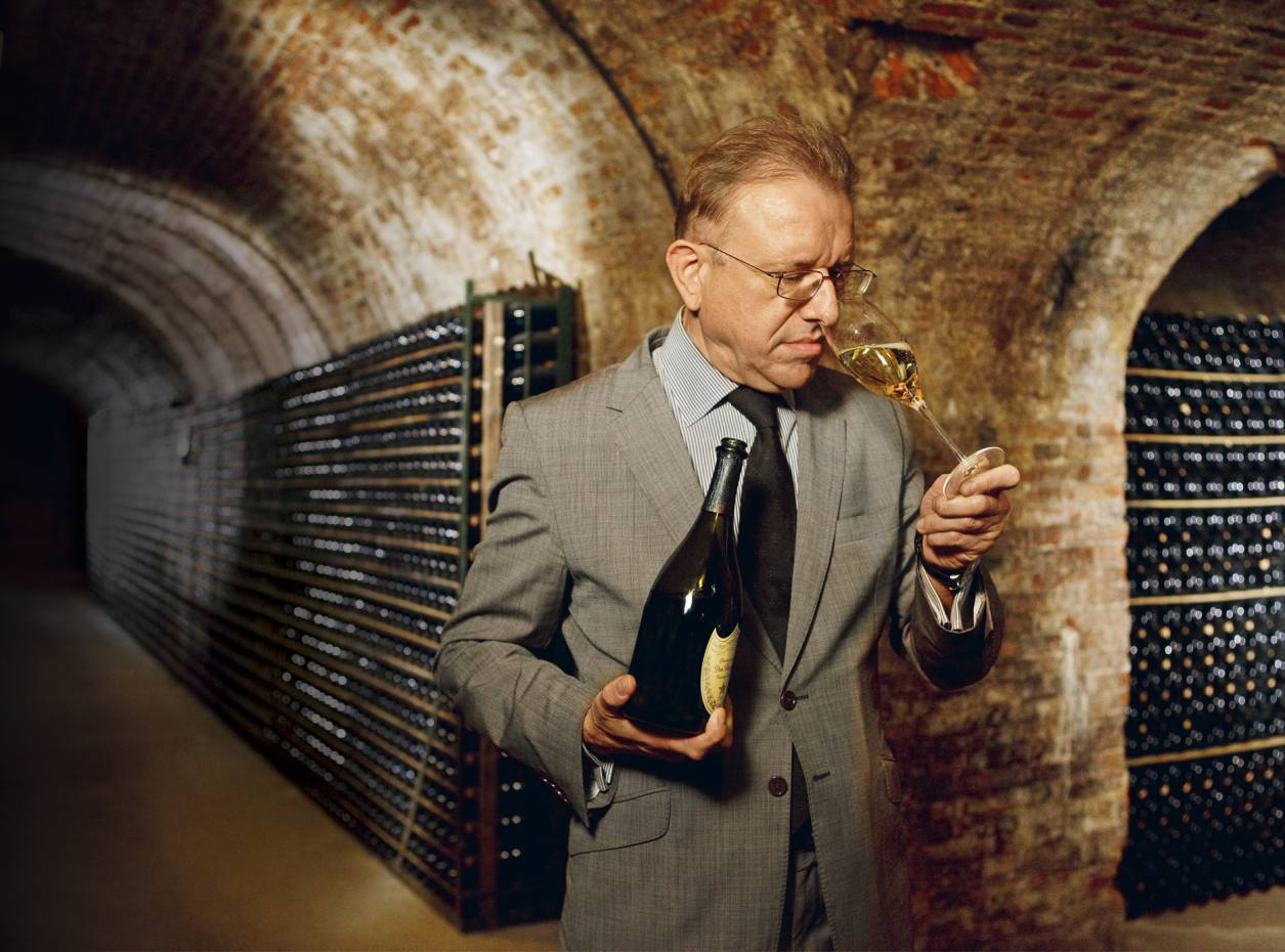 Dom Pérignon's chef de cave Richard Geoffroy in one of the vintage cellars in Epernay, France.