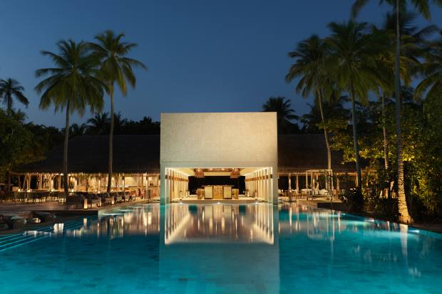"""The Cabana pool where chocolate ice cream can be enjoyed from the """"pop-up parlour"""""""