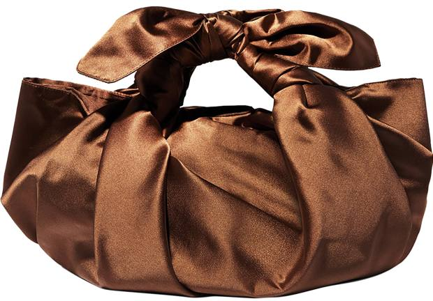 Emily Levine silk-satin Notto bag, £365, from net-a-porter.com