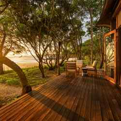 A tented beach villa at the sustainably built Wa Ale Island Resort, in Myanmar's Mergui Archipelago