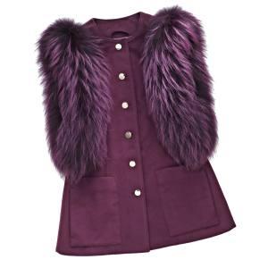 Tricouni cashmere Curie gilet with finnraccoon fur trim, £1,250