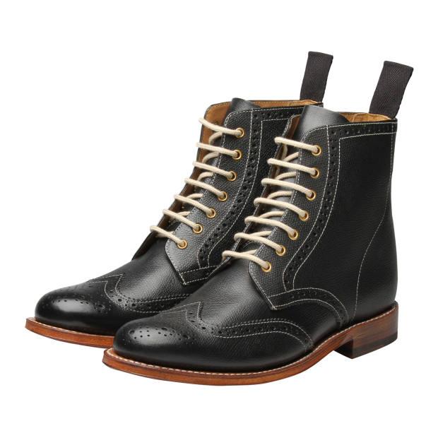Grenson calfskin Ella brogue boots, £215