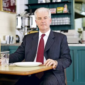 John Corcoran at the Regency Café