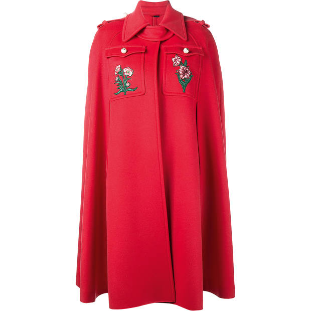 Gucci embroidered wool cape, £1,990