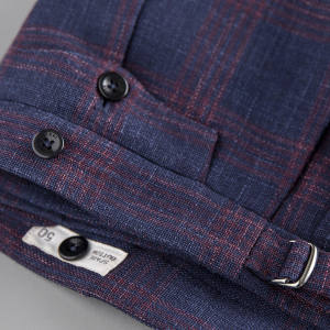 Incotex wool/silk/linen check trousers, £315