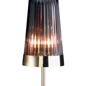 Waterford Pleated table lamp (71cm high) by Jo Sampson, in brass-plated steel and Waterford crystal, £1,100