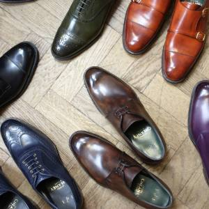 Six of the possible 1.2m variations on personalised shoes available from Cheaney (from £695 per pair)
