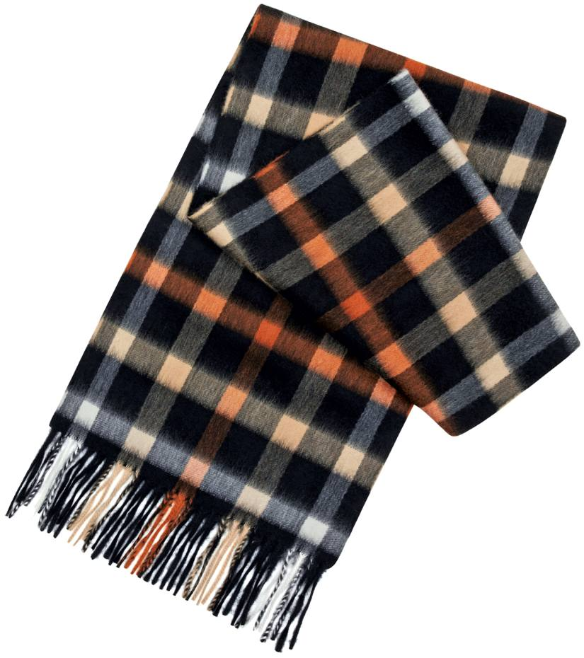 Daks Christmas scarf, £225; 10 per cent goes to London homeless charities