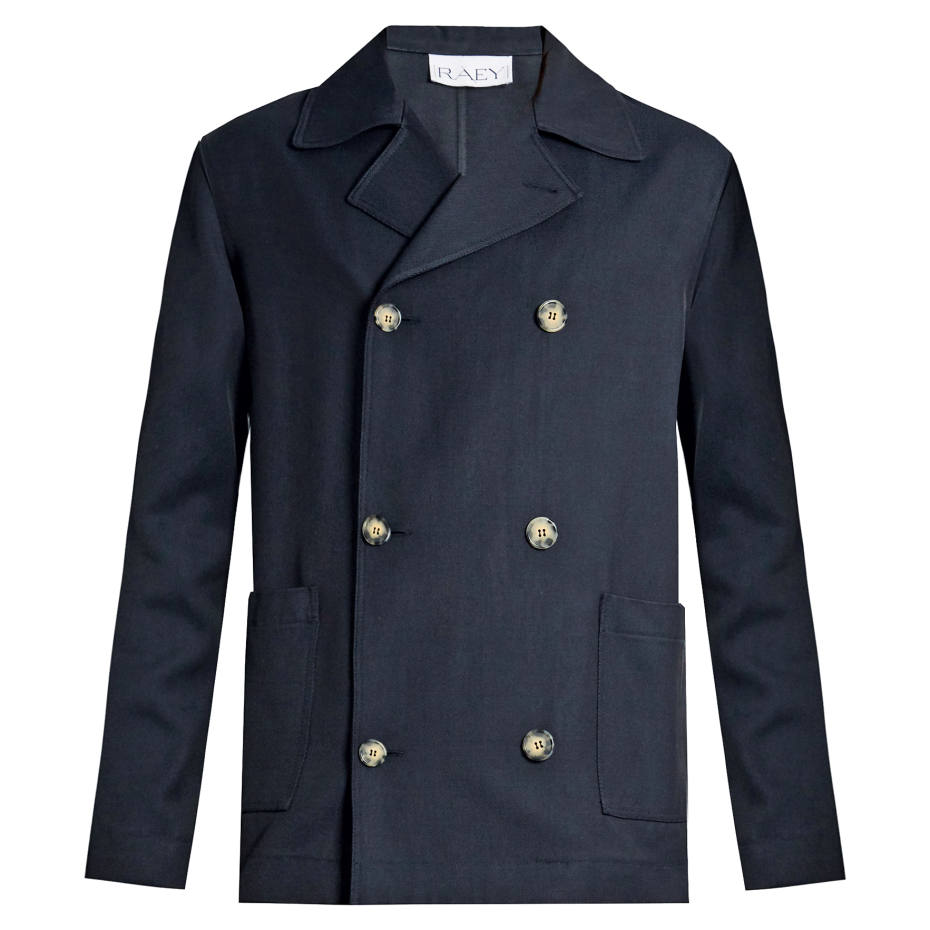 Raey double-breasted twill jacket, £395