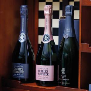 From left: Charles Heidsieck Brut Reserve, Rosé Reserve and Blanc des Millénaires 1995 vintage