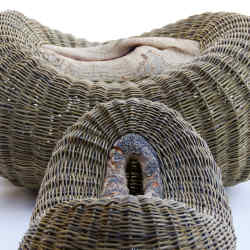 Ash wood and willow rod Pods by Joe Hogan: Birth (background), about €1,600, and Saved From the Saw, €1,350. See text for stockists.