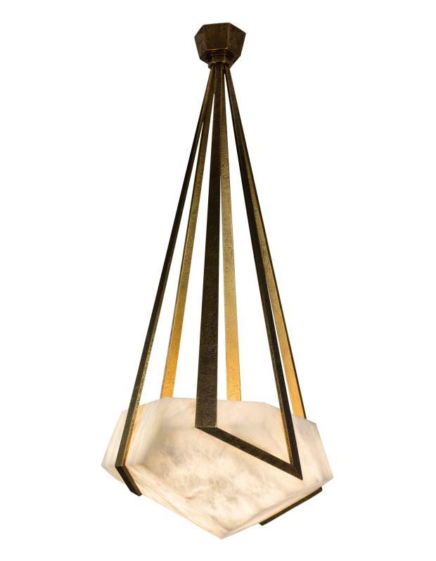 Hervé Van der Straeten alabaster and bronze Galatée chandelier, price on request