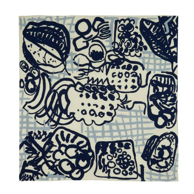 A 2013 reproduction by Tate Britain and Beckford Silk of Patrick Heron's 1947 Gourmet scarf
