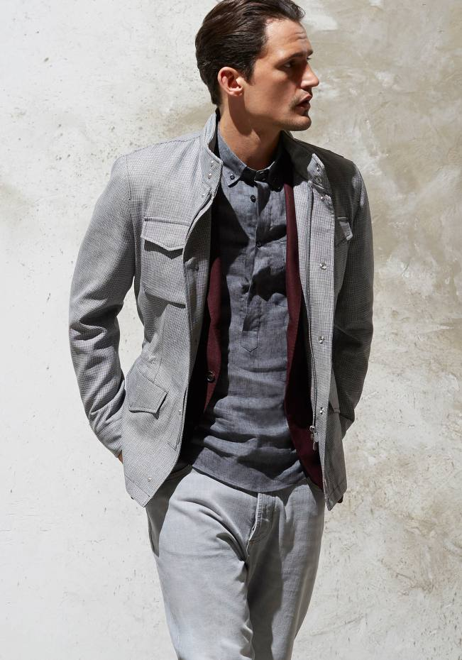 Brunello Cucinelli linen/wool field jacket, £2,150