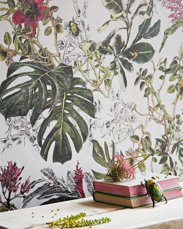 Sian Zeng Summer Tropical Bloom wallpaper, £195 a roll