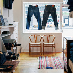 "Inside Blackhorse Lane's Shoreditch shop, which the craft-jeans maker calls a ""denim haberdashery"""