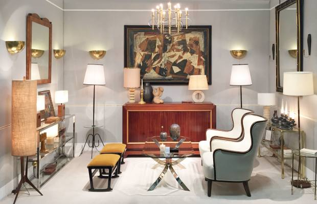Dorian Caffot de Fawes Antiques specialises in pieces from the early 20th century to the 1950s