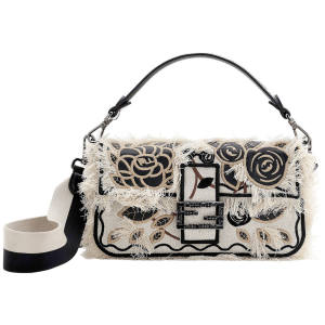 Fendi embroidered jacquard Baguette, price on request