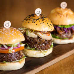 Hamburgers at Bar Boulud