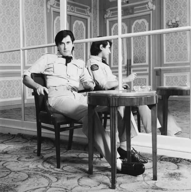 Bryan Ferry at the Montcalm hotel, London, in 1975