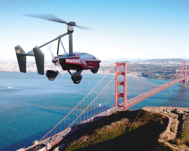 The PAL-V Liberty, from €358,800, functions as both a road vehicle and a gyroplane