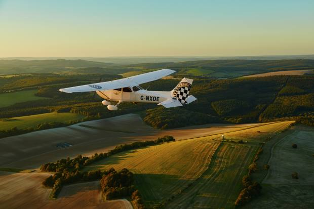 The day includes a flight over the stunning South Downs in a state-of-the-art Cessna