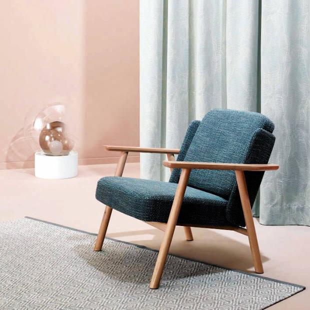 Alki armchair upholstered in Nya Nordiska Cosy fabric, £102.60 per sq m