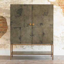 Julian Chichester vellum, oak and gilded-metal Pollock cabinet, £4,055