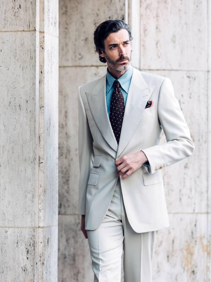 Edward Sexton gabardine suit, £5,700