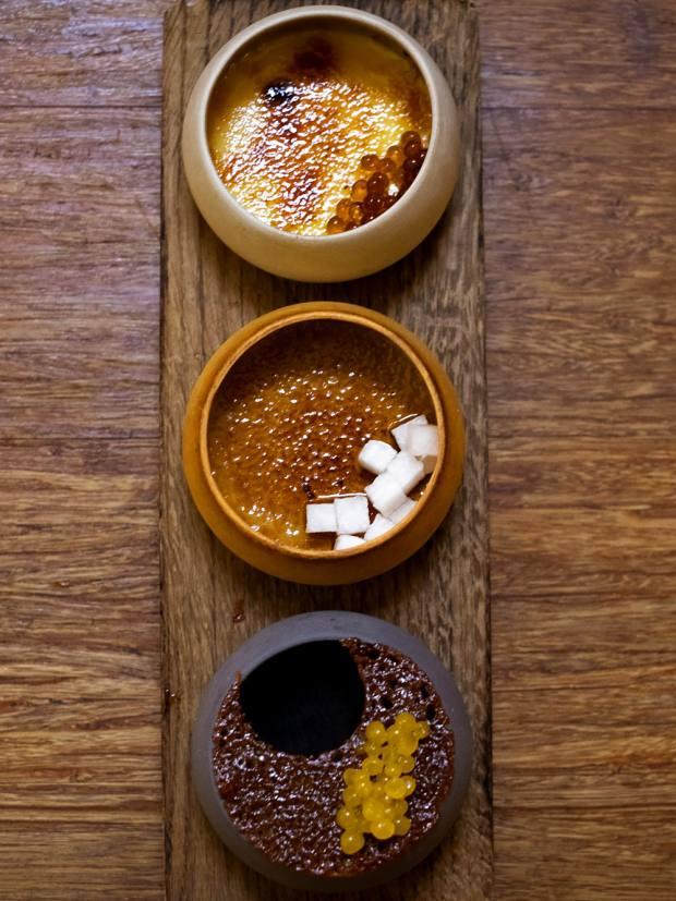 The crème brûlée trio, £9.90