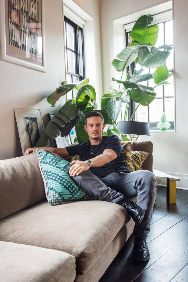 Jonathan Saunders at home in New York
