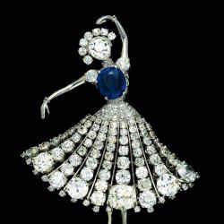 1951 ballerina brooch, £385,000, from Hancocks.