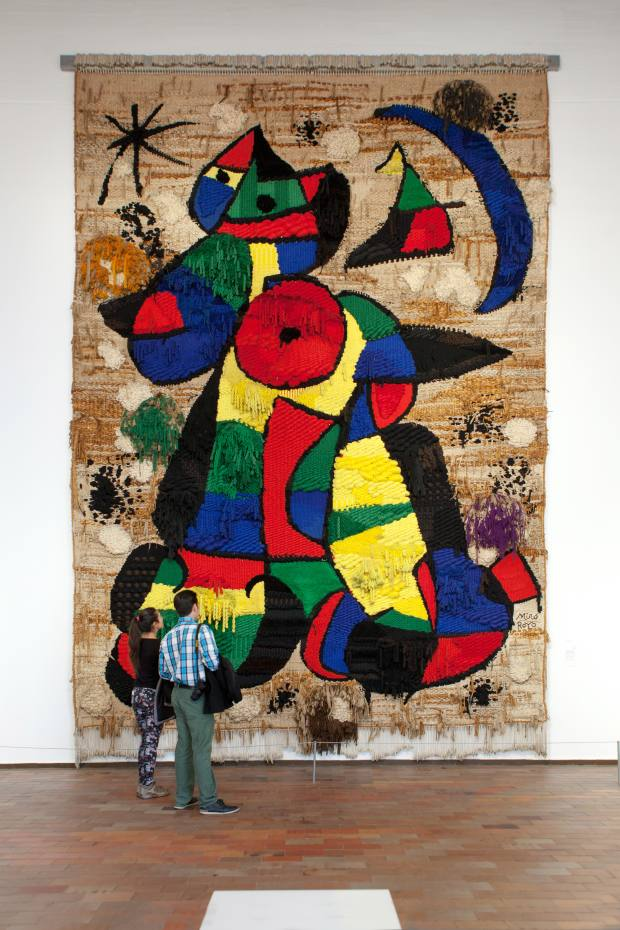 Proceeds from the fundraising dinner will help to restore and preserve Miró's Tapestry of the Fundació, which hangs in the Fundació Joan Miró museum