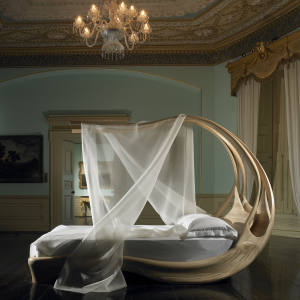 Enignum canopy bed, €144,000 photographed at Fota House, Cork, Ireland