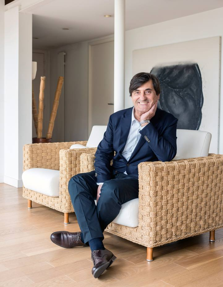 Michel Roset at his home in Lyon