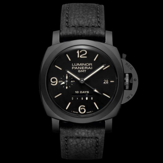 10 days: Panerai ceramic Luminor GMT 10 Days on leather strap, £14,500