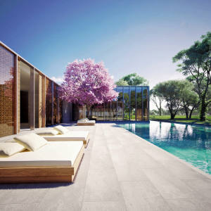 One of the Piero Lissoni-designed rooms at The Middle House, Shanghai