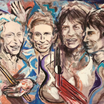 Welcome, a new limited-edition print by Ronnie Wood, £2,000