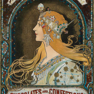 Whitman's Chocolates and Confections/Philadelphia by Alphonse Mucha, $1,200 to $1,800