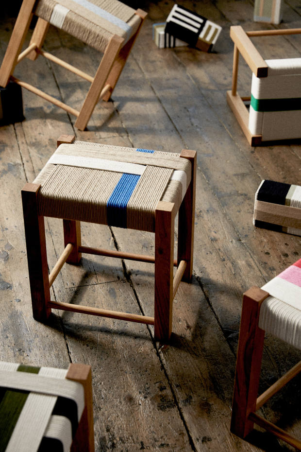 Margate-based designer-maker Jo Elbourne has won wide acclaim with her bold, geometric woven furniture pieces and artwork