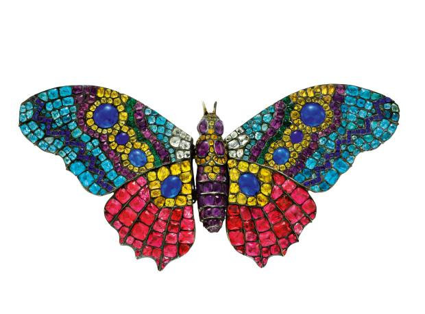 A c1780 paste moth brooch, $25,000, from Simon Teakle