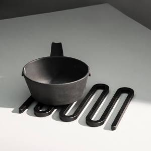 Matthew Hilton for De La Espada cast iron, oak and fabric Armstrong sofa, £6,408, armchair, £4,734, and coffee table, £1,500