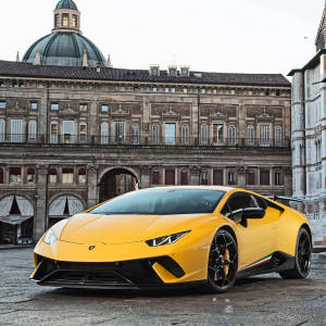 A Lamborghini Huracán can be hired from £1,000 per day