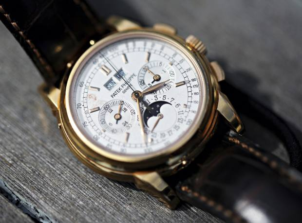 Rose gold Patek Philippe 5970R Chronograph Perpetual Calendar with Moonphase, price on request