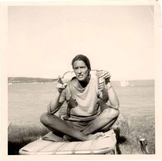 Hermother, Barbara, at their island home