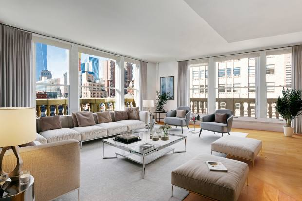 Athree-bedroom cooperative apartment, 10 minutes' walk from the heart of WallStreet, $5.995m through Knight Frank