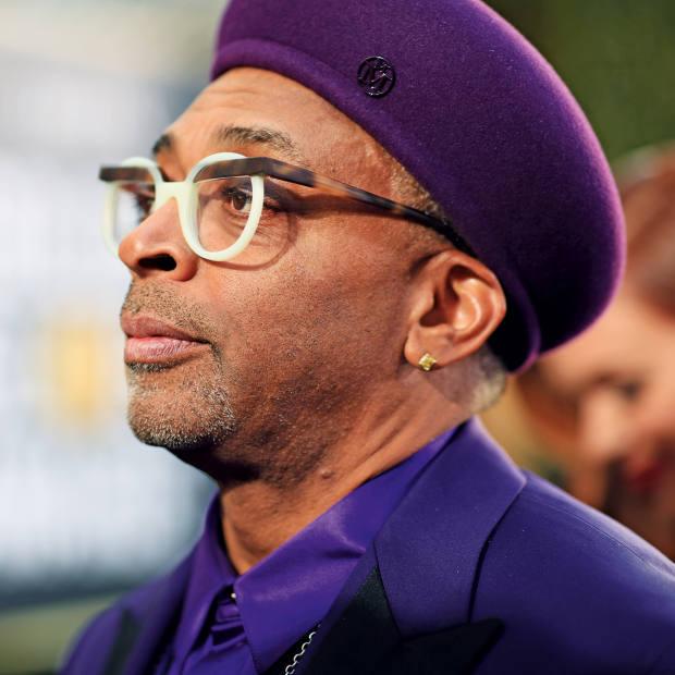 Spike Leewears a beret by Maison Michel